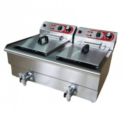 Freidora sobremesa 10+10L (2x4,25KW) c/grifo