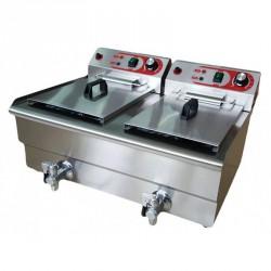 Freidora sobremesa 10+10L (2x3KW) c/grifo
