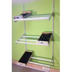 estanteria para frutas y verduras de cremallera