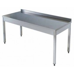 Mesa inox. s/estante 1500x600x850mm