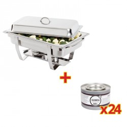 1 Chafing GN 1/1 + 24 Recargas de combustible