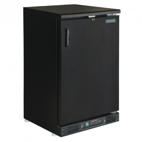 Botellero refrigerado 1 puerta maciza negro