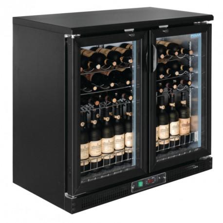 Cava horizontal para vinos 56 botellas 750ml con 2 puertas pivotantes