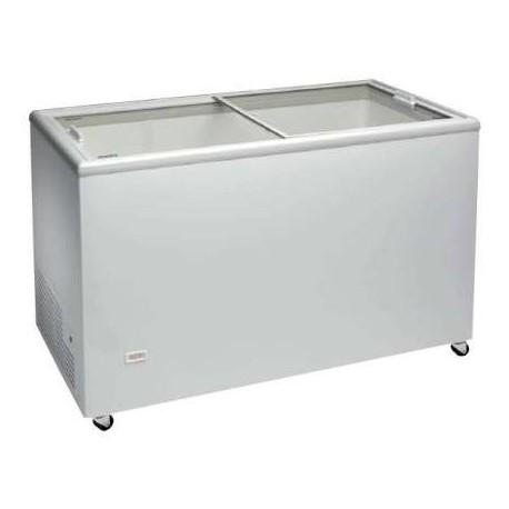 Congelador horizontal con puertas correderas de cristal 1503x670x895mm