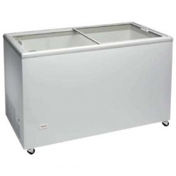 Congelador horizontal 1283x670x895mm puertas deslizantes de cristal