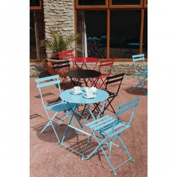 Conjunto 2 sillas con mesa redonda exterior