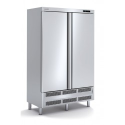 Armario mixto de refrigeracion y congelados en acero inoxidable