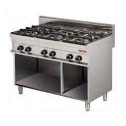 Cocina a gas 6 fuegos sin horno 1200x700x900mm