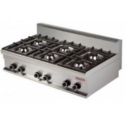 Cocina sobremesa 6 fuegos 1200x700x290mm