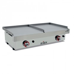 Plancha a gas doble zona 400+400mm