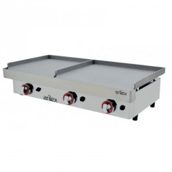 Plancha gas doble zona 600+400mm