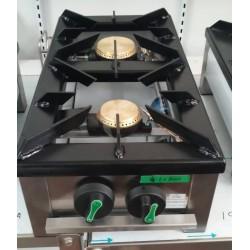 Fogón gas sobremesa 2 fuegos 300x600mm