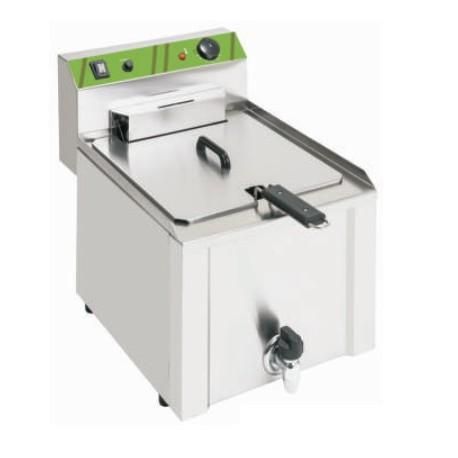 Freidora eléctrica sobremesa 10L 4,5kW con grifo de vaciado