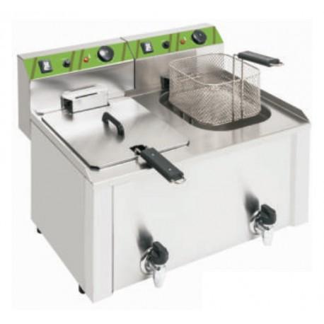 freidora eléctrica sobremesa 10+10L (2x4,5kW)