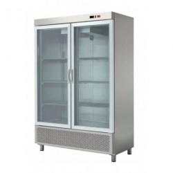 Expositor refrigerado 1200L en acero inoxidable