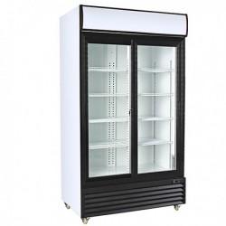 Expositor refrigerado 2 puertas correderas 1000L