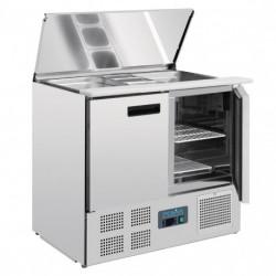 Mesa de preparación de ensaladas 2 puertas 900x700x885mm