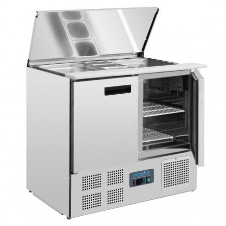 Mesa preparación de ensaladas 2 puertas 900x700x885mm