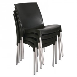 Conjunto de 4 sillas bistro apilables para interior y exterior