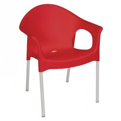 Conjunto de 4 sillones bistro con brazos para interior y exterior