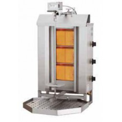 Kebab a gas 3 quemadores motor superior