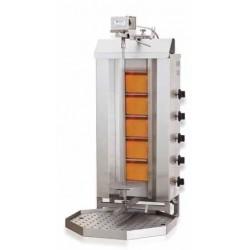 Kebab a gas 5 quemadores motor superior