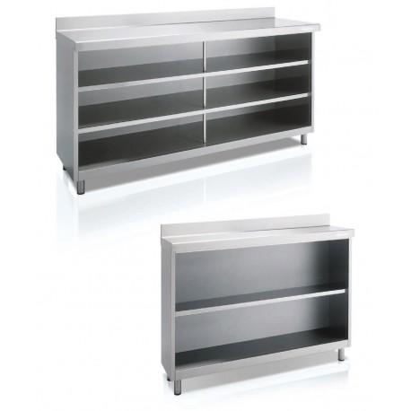 Mueble trasbarra 2020x600x1040mm acero inoxidable